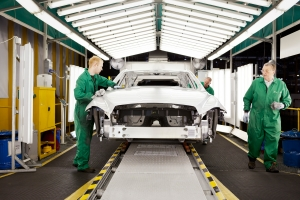 Jaguar Land Rover - UK production line